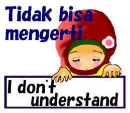 hijabista. 3. Indonesian+English sticker #6676994