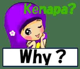 hijabista. 3. Indonesian+English sticker #6676996
