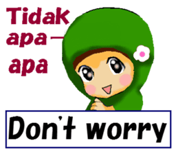 hijabista. 3. Indonesian+English sticker #6676999