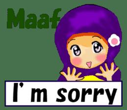 hijabista. 3. Indonesian+English sticker #6677001