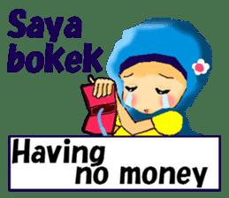 hijabista. 3. Indonesian+English sticker #6677011