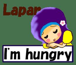 hijabista. 3. Indonesian+English sticker #6677017