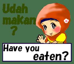 hijabista. 3. Indonesian+English sticker #6677018