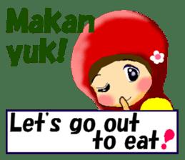 hijabista. 3. Indonesian+English sticker #6677019