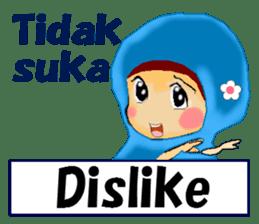 hijabista. 3. Indonesian+English sticker #6677020