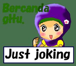 hijabista. 3. Indonesian+English sticker #6677021