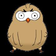 สติ๊กเกอร์ไลน์ Stickers of owl such as the Dharma
