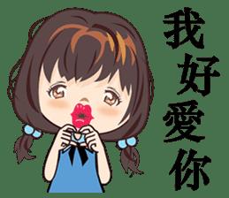 Little Blue Girl sticker #6699628
