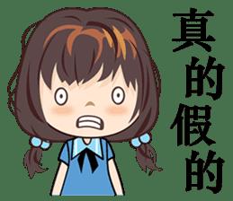 Little Blue Girl sticker #6699629