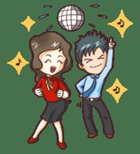 Cute Office Romance sticker #6702330