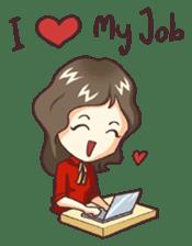Cute Office Romance sticker #6702331