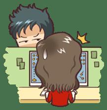 Cute Office Romance sticker #6702344
