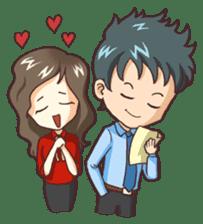 Cute Office Romance sticker #6702349