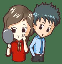 Cute Office Romance sticker #6702355