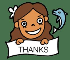 Beach girl & Friend of the sea sticker #6704759