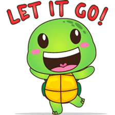 Pura, the funny turtle, version 5 sticker #6705247
