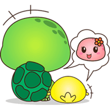 Pura, the funny turtle, version 5 sticker #6705252
