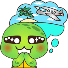 Pura, the funny turtle, version 5 sticker #6705257