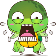 Pura, the funny turtle, version 5 sticker #6705260
