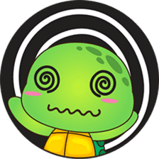 Pura, the funny turtle, version 5 sticker #6705270