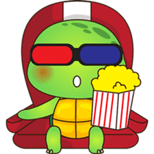 Pura, the funny turtle, version 5 sticker #6705273