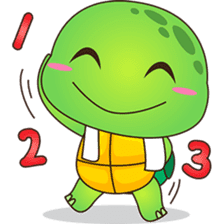 Pura, the funny turtle, version 5 sticker #6705275