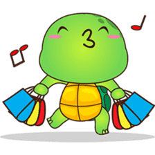 Pura, the funny turtle, version 5 sticker #6705278
