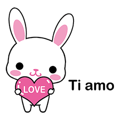 Rabbits with Italian phrases & gestures