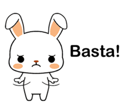 Rabbits with Italian phrases & gestures sticker #6708202