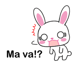 Rabbits with Italian phrases & gestures sticker #6708207