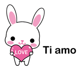 Rabbits with Italian phrases & gestures sticker #6708211