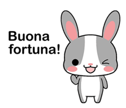 Rabbits with Italian phrases & gestures sticker #6708217