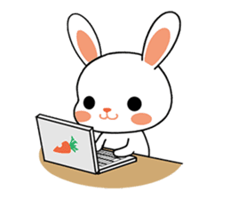 Rabbits with Italian phrases & gestures sticker #6708223