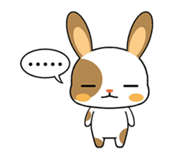 Rabbits with Italian phrases & gestures sticker #6708224
