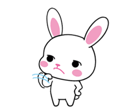 Rabbits with Italian phrases & gestures sticker #6708226