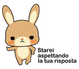 Rabbits with Italian phrases & gestures sticker #6708227