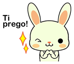 Rabbits with Italian phrases & gestures sticker #6708235
