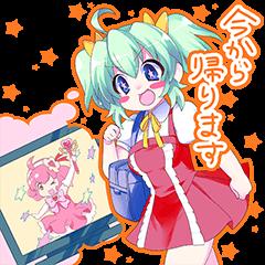 moe~ anime girls sticker!