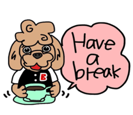 Rock'n'roll dogs English ver. sticker #6714696