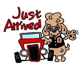 Rock'n'roll dogs English ver. sticker #6714699