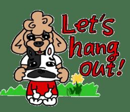 Rock'n'roll dogs English ver. sticker #6714700
