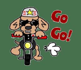 Rock'n'roll dogs English ver. sticker #6714701