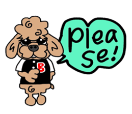 Rock'n'roll dogs English ver. sticker #6714705
