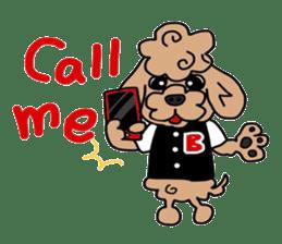 Rock'n'roll dogs English ver. sticker #6714706