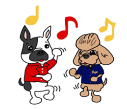 Rock'n'roll dogs English ver. sticker #6714714