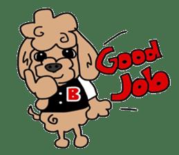 Rock'n'roll dogs English ver. sticker #6714721
