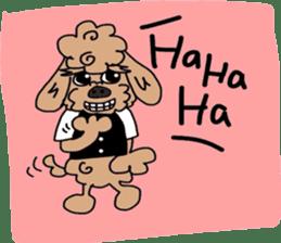Rock'n'roll dogs English ver. sticker #6714724