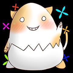 Colorful Eggshell Cat