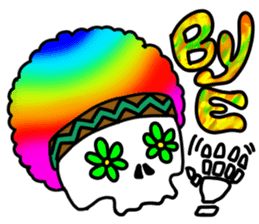 Hippie Skull sticker #6718610