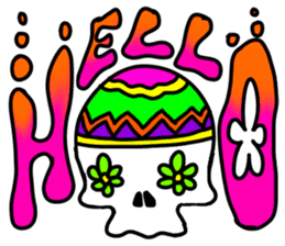 Hippie Skull sticker #6718611